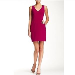Trina Turk Suzy Sheath Raspberry Sleeveless Dress